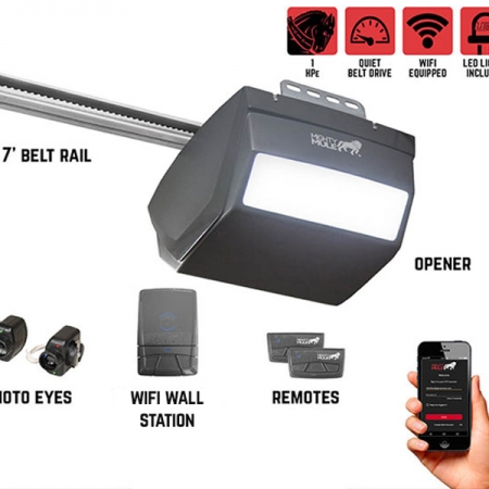 Pintu Otomatis Mighty Mule MM9434K – 1 HPe Smart Garage Door Opener