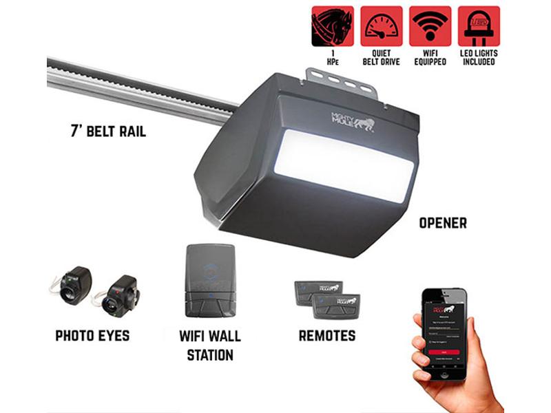 Pintu Otomatis Mighty Mule MM9434K – 1 HPe Smart Garage Door Opener